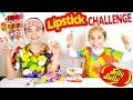JELLY BELLY LIPSTICK CHALLENGE avec des Baumes à Lèvres Bonbons :