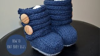 getlinkyoutube.com-KNITTING TUTORIAL - BABY UGGs- PART 2