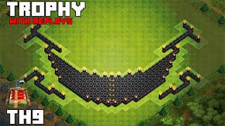 getlinkyoutube.com-Clash Of Clans: Th9 Trophy Base 2015/with replays [Eclipse]