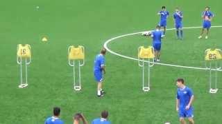getlinkyoutube.com-Midfielder Set and Through Ball Drill