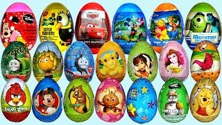 getlinkyoutube.com-26 Surprise eggs, Маша и Медведь Kinder Surprise Disney Pixar Cars 2 Mickey Mouse