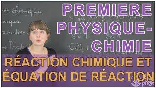 Réaction chimique et équation de réaction - Physique-Chimie - 1ère S - Les Bons Profs