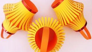getlinkyoutube.com-How To Make A Colorful Diwali Lantern | DIY Diwali Lantern - Craft Basket.