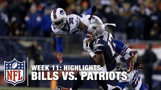 getlinkyoutube.com-Bills vs. Patriots | Week 11 Highlights | Monday Night Football