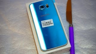 getlinkyoutube.com-Samsung Galaxy S6 Blue Topaz Greek Unboxing