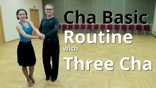 Basic Cha Cha Routine with 3 Cha and Open Hip Twist   Latin Dance