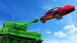 SHOT OUT OF TANK RACE! (GTA 5 Funny Moments)
