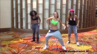 getlinkyoutube.com-Alicia Zumba®Twinz - Major Lazer - Watch out for this