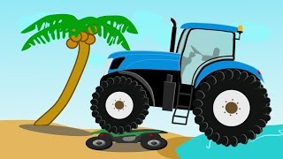 getlinkyoutube.com-Monster Tractor Traktor Stunt | Bajki i Demolka