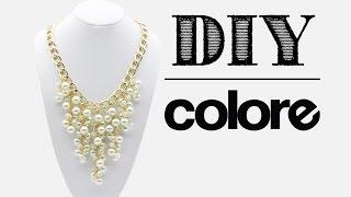 getlinkyoutube.com-DIY Collar Cadena, Perla y Cristal | Colore Accesorios