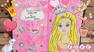 getlinkyoutube.com-Идеи для личного дневника Мой Скетчбук Как начать DIY своими руками ЛД Артбук Sketchbook Смешбук