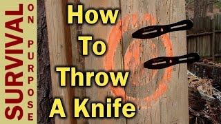 getlinkyoutube.com-Knife Throwing For Beginners - How To Throw A Knife