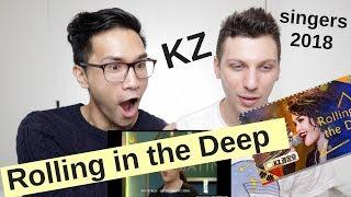 KZ TANDINGAN - ROLLING IN THE DEEP   SINGERS 2018   REACTION