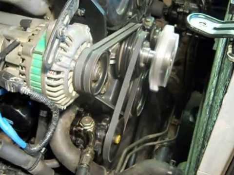 Перенес генератор на верх а насос ГУР вниз (D4BH он же 4D56T)