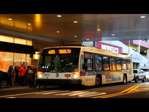 MTA New York City Bus 2011 NovaBus LFS 8033 [ Audio Clip ]