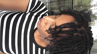 getlinkyoutube.com-Wash Day | Twist and Talk | December Protective Style | 4C Natural Hair