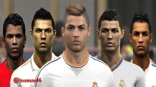 getlinkyoutube.com-Cristiano RONALDO from PES 3 to PES 2014