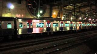 getlinkyoutube.com-Korail Gyeongui-Jungang Line trains at Jungnang