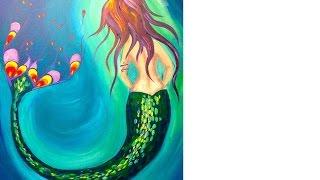 getlinkyoutube.com-How to paint | Mermaid |  Beginner acrylic art lesson