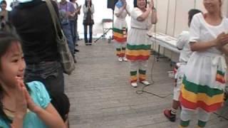 getlinkyoutube.com-Africa Festa 2009 in Japan Ethiopian Gurage Dance Workshop