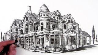 getlinkyoutube.com-How to Draw a House