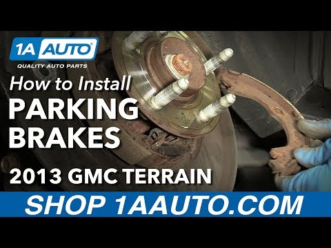 How to Replace Rear Parking Brake Shoes and Hardware 10-14 GMC Terrain