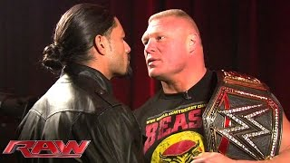 getlinkyoutube.com-Roman Reigns and Brock Lesnar meet face to face: January 26, 2015