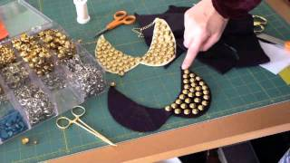 getlinkyoutube.com-DIY Stud Collar Necklace