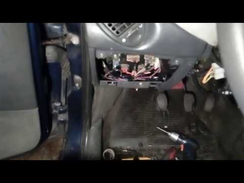 Lancia y (840) снятие приборной панели и замена радиатора  печки