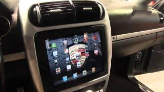 getlinkyoutube.com-Best iPad 2 install into car, motorized. SBN 2011 Porsche Cayenne S by Underground auto styling