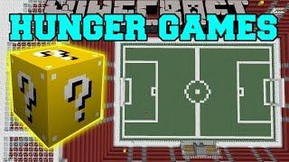 getlinkyoutube.com-Minecraft: FOOTBALL STADIUM HUNGER GAMES - Lucky Block Mod - Modded Mini-Game