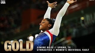 getlinkyoutube.com-Simone Biles Wins Gold In Women's Vault at Rio Olympics 2016