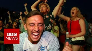 World Cup 2018: How England fans celebrated - BBC News width=