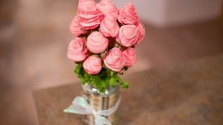 getlinkyoutube.com-How to Make Edible Arrangements Strawberry Rose Bouquet