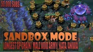 getlinkyoutube.com-LONGEST GANGPLANK CHAIN/ MALZAHAR VOID ARMY/ KATA/ ANIVIA - Practice Sandbox Mode Gameplay