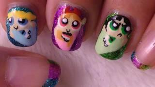 getlinkyoutube.com-Powerpuff Girls Nail Art