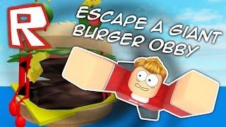 getlinkyoutube.com-I'VE BEEN EATEN BY A GIANT BURGER!! Roblox