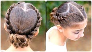 getlinkyoutube.com-Rope Twisted Heart | Cute Girls Hairstyles