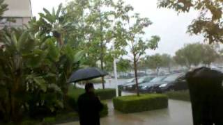 getlinkyoutube.com-Cris's $100 run in the rain naked dare!!!