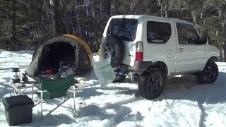 getlinkyoutube.com-【RinderonVG】ソロキャンプvol.12(2/5) 長野雪中林道 solo camping trip 2014/1/27