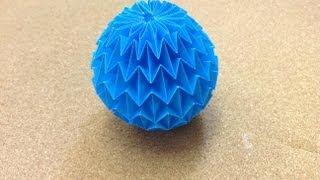 getlinkyoutube.com-Daily Origami: 731 - Magic Ball by Yuri Shumakov