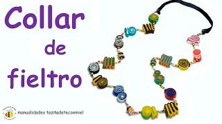 getlinkyoutube.com-Manualidades: collar de fieltro / Crafts Felt collar