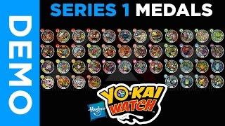 getlinkyoutube.com-[4K] Hasbro Yo-Kai Watch  - All SERIES 1 Medals From Mystery Bags
