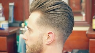 getlinkyoutube.com-How to Do an Undercut with a Slicked back Pompadour