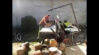 getlinkyoutube.com-Krajzega łańcuchowa sosenka jak w masełko, chain saw pine as butter
