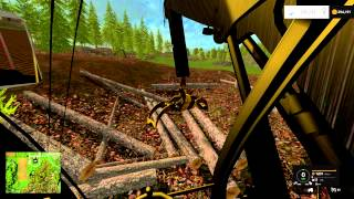 getlinkyoutube.com-Farming Simulator 2015 Forestry loading trucks with a log loader