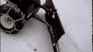 getlinkyoutube.com-Snow Clearing With My Homemade Walk Behind Snow Plow DIY