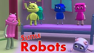 getlinkyoutube.com-★2 HOURS★ 5 Little Monkeys Jumping On The Bed || ROBO Version || Nursery Rhymes