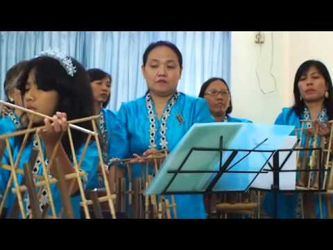 On a Hill Far Away (NKB 83 Nun di Bukit Yang Jauh) played with ANGKLUNG by AWI8 Bogor