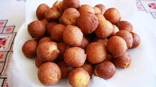 getlinkyoutube.com-Пончики мини без дрожжей простейший рецепт на сгученном молоке Как приготовить пончики рецепт пончик